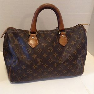 Vintage French Company Louis Vuitton Speedy 30